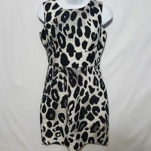 Ann Taylor Petite 0 Dress Snow Leopard Print